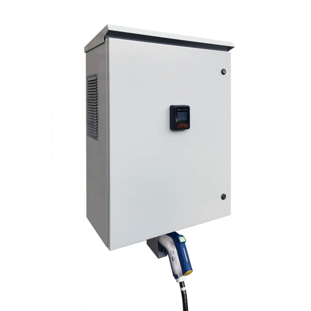 Зарядная станция стандарта Chademo (настенная) с POS терминалом оплаты