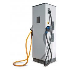 Зарядная станция стандарта Chademo и CCS (напольная) с поддержкой OCPP